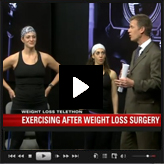 Exercising before and after weight loss surgery